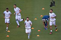 Photo before the match Argentina vs Chile corresponding to the Final of America Cup Centenary 2016, at MetLife Stadium.<br /> <br /> Foto previo al partido Argentina vs Chile cprresponidente a la Final de la Copa America Centenario USA 2016 en el Estadio MetLife , en la foto:(i-d) Ever Banega, Ramiro Funes Mori, Lionel Messi y Nicolas Otamendi<br /> <br /> <br /> 26/06/2016/MEXSPORT/JAVIER RAMIREZ