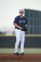 AZL Padres 2 starting pitcher Ryan Weathers (40) prepares to deliver a pitch during an Arizona League game against the AZL Padres 1 at Peoria Sports Complex on July 25, 2018 in Peoria, Arizona. The AZL Padres 1 defeated the AZL Padres 2 10-1. (Zachary Lucy/Four Seam Images)