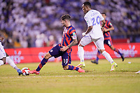 SAN PEDRO SULA, HONDURAS - SEPTEMBER 8: Christian Pulisic #10 of the United States moves towards the goal during a game between Honduras and USMNT at Estadio Olímpico Metropolitano on September 8, 2021 in San Pedro Sula, Honduras.
