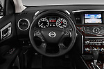 Steering wheel view of a 2013 Nissan Pathfinder  SUV