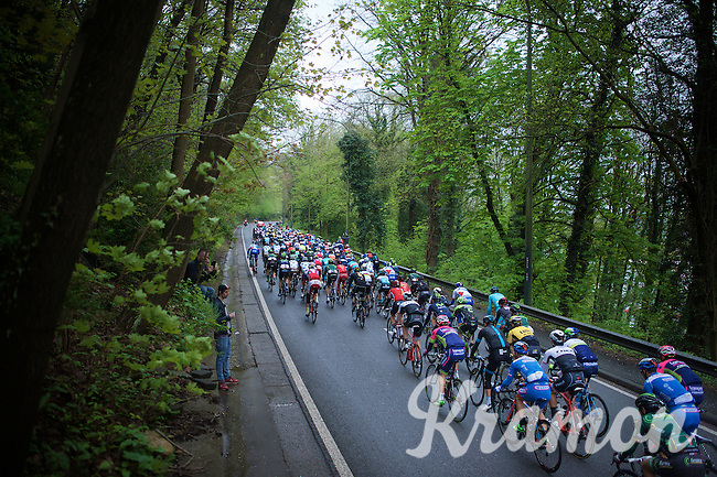 at km 0 the peloton is presented with an intro-climb<br /> <br /> 101th Liège-Bastogne-Liège 2015