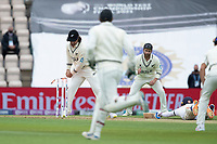 Colin de Granhomme, New Zealand whips off the bails following a mix up between Sharma and Gill during India vs New Zealand, ICC World Test Championship Final Cricket at The Hampshire Bowl on 19th June 2021