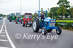 The convoy of tractors at the Paudie Fitzmaurice Tractor Run in Castleisland on Sunday