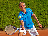 Netherlands, Amstelveen, August 23, 2015, Tennis,  National Veteran Championships, NVK, TV de Kegel,  Men's single final 60+ years: Frits Raijmakers<br /> Photo: Tennisimages/Henk Koster
