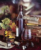 Interlitho, STILL LIFE STILLLEBEN, NATURALEZA MORTA, paintings+++++,red wine,books,KL16404,#i# wine,masculin,
