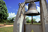 Belterra, Para State, Brazil. Bell next to church built by Ford.