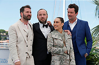 """CANNES, FRANCE - JULY 13:  Hilmir Snaer Gudnason, Director Valdimar Johannsson, Noomi Rapace and Bjorn Hlynur Haraldsson at the """"Lamb"""" photocall during the 74th annual Cannes Film Festival on July 13, 2021 in Cannes, France. <br /> CAP/GOL<br /> ©GOL/Capital Pictures"""