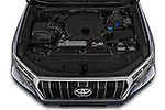 Car Stock 2021 Toyota Land-Cruiser-150 Country 5 Door SUV Engine  high angle detail view