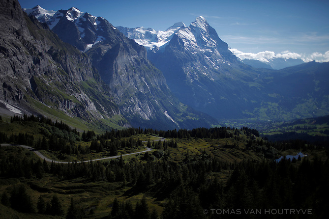 The Eiger mountain is seen at the top f the Grosse Scheidegg Pass in Switzerland on Aug. 10, 2011.