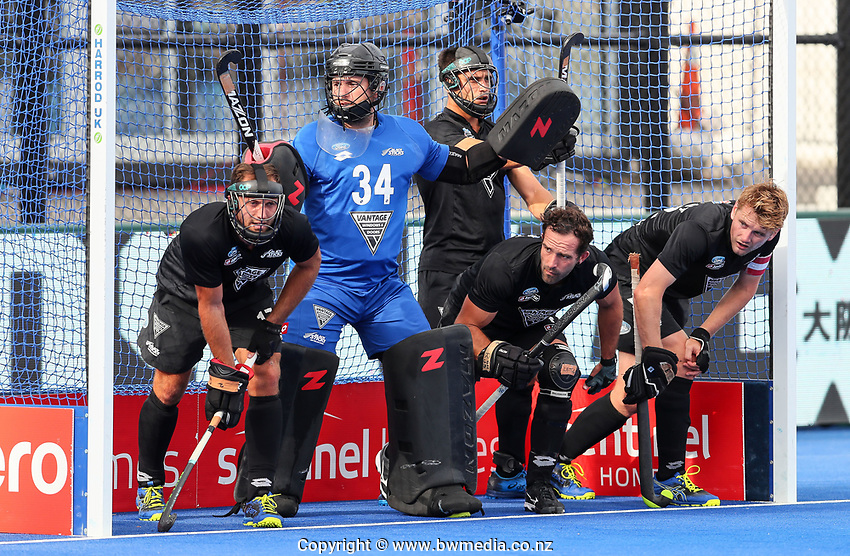 Leon Hayward during the Pro League Hockey match between the Blacksticks men and the Spain, Nga Punawai, Christchurch, New Zealand, Sunday 16 February 2020. Photo: Simon Watts/www.bwmedia.co.nz
