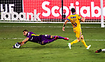 Goalkeeper Nahuel Guzman of Tigres UANL (MEX) in action against CD Olimpia (HON) during their CONCACAF Champions League Semi Finals match at the Orlando's Exploria Stadium on 19 December 2020, in Florida, USA. Photo by Victor Fraile / Power Sport Images