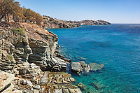 Rock formations in Tinos island, Greece
