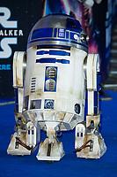 "R2-D2<br /> arriving for the ""Star Wars: The Rise of Skywalker"" premiere at the Cineworld Leicester Square, London.<br /> <br /> ©Ash Knotek  D3545 17/12/2019"