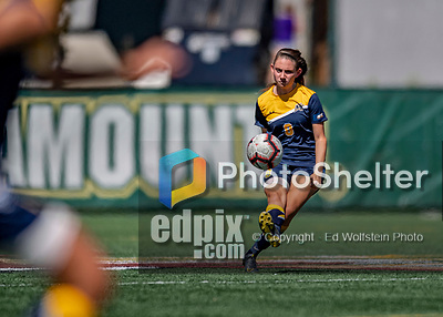 1 September 2019: Merrimack College Warrior Defender Rebecca Harty, a Sophomore from North Andover, MA, in action against the University of Vermont Catamounts in Game 3 of the TD Bank Women's Soccer Classic at Virtue Field in Burlington, Vermont. The Lady Warriors rallied in the second half to defeat the Catamounts 2-1. Mandatory Credit: Ed Wolfstein Photo *** RAW (NEF) Image File Available ***