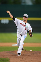 Tri-City ValleyCats pitcher Tanner Bushue (31) during a game against the Lowell Spinners on July 5, 2013 at Joseph L. Bruno Stadium in Troy, New York.  Tri-City defeated Lowell 5-4.  (Mike Janes/Four Seam Images)