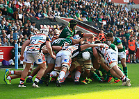 9th October 2021; Brentford Community Stadium, Brentford, London; Gallagher Premiership Rugby, London Irish versus Leicester Tigers; London Irish and Leicester Tigers players in the scrum
