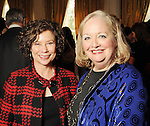 Barbara Goldstein and Cheryl Kinion at the Museam Lunche at the River Oaks Country Club Wednesday Feb. 03,2010. (Dave Rossman Photo)