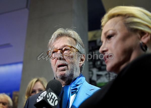 "10 September 2017 - Toronto, Ontario Canada - Eric Clapton, Lili Fini Zanuck. 2017 Toronto International Film Festival - ""Eric Clapton: Life In 12 Bars"" Premiere held at TIFF Bell Lightbox. Photo Credit: Brent Perniac/AdMedia"