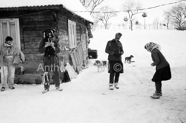 Maramures Romania<br /> December 31,1992<br /> <br /> New Years ritual.