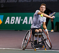 Rotterdam, The Netherlands, 12 Februari 2020, ABNAMRO World Tennis Tournament, Ahoy. Wheelchair: Ruben Spaargaren (NED).<br /> Photo: www.tennisimages.com