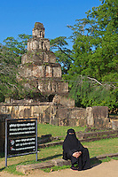 A Muslim visitor/Tourist visiting Polonnaruwa-Mediaeval Capital City, Sri Lanka