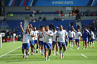 Samoa thank the fans during a lap at the end of the Match 6 of the Rugby World Cup 2015 between Samoa and USA - 20/09/2015 - Brighton Community Stadium, Brighton <br /> Mandatory Credit: Rob Munro/Stewart Communications