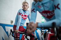 Mads Würtz Schmidt (DEN/Katusha Alpecin), pre race, <br /> <br /> 74th Omloop Het Nieuwsblad 2019 (BEL)<br /> Gent – Ninove: 200km<br /> ©kramon