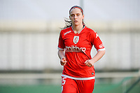 20160513 - LIEGE , BELGIUM : Standard's Elien Nelissen pictured during a soccer match between the women teams of  Standard Femina De Liege and KAA Gent Ladies , during the fifth matchday in the SUPERLEAGUE Playoff 1 , Friday 13 May 2016 . PHOTO SPORTPIX.BE / DAVID CATRY