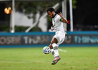 LAKE BUENA VISTA, FL - AUGUST 01: Jeremy Ebobisse #17 of the Portland Timbers controls the ball during a game between Portland Timbers and New York City FC at ESPN Wide World of Sports on August 01, 2020 in Lake Buena Vista, Florida.