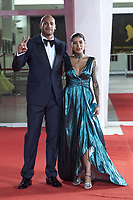 Marcell Jacobs and Nicole Daza attending The Last Duel Premiere as part of the 78th Venice International Film Festival in Venice, Italy on September 10, 2021. <br /> CAP/MPIIS<br /> ©MPIIS/Capital Pictures