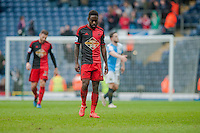 BLACKBURN, ENGLAND - JANUARY 24:  Nathan Dyer of Swansea City leaves the field with their heads down  during the FA Cup Fourth Round match between Blackburn Rovers and Swansea City at Ewood park on January 24, 2015 in Blackburn, England.  (Photo by Athena Pictures/Getty Images)