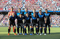 STANFORD, CA - JUNE 29: San Jose Earthquakes Starting Eleven during a Major League Soccer (MLS) match between the San Jose Earthquakes and the LA Galaxy on June 29, 2019 at Stanford Stadium in Stanford, California.