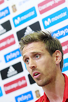 Spain's Nacho Monreal in press conference after training session. June 5,2017.(ALTERPHOTOS/Acero)