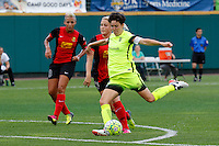 Rochester, NY - Saturday July 09, 2016: Seattle Reign FC midfielder Keelin Winters (11) during a regular season National Women's Soccer League (NWSL) match between the Western New York Flash and the Seattle Reign FC at Frontier Field.
