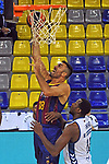 League ACB-ENDESA 2020/2021 - Game: 1.<br /> Barça vs Hereda San Pablo Burgos: 89-86.<br /> Pierre Oriola vs Jordan Sakho.