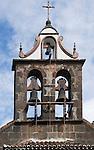 Spain, Canary Islands, La Palma, La Palma, oberhalb Santa Cruz: Santuario Nuestra Senora de las Nieves, monastery and pilgrimage chapel, tower and church bells
