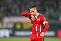 17.02.2018, Football 1. Bundesliga 2017/2018, 23.  match day, VfL Wolfsburg - FC Bayern Muenchen, in Volkswagen Arena Wolfsburg. Franck Ribery (Bayern Muenchen)  *** Local Caption *** © pixathlon<br /> <br /> Contact: +49-40-22 63 02 60 , info@pixathlon.de