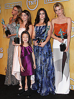 LOS ANGELES, CA - JANUARY 18: Sofia Vergara, Sarah Hyland, Aubrey Anderson-Emmons, Ariel Winter, Julie Bowen in the press room at the 20th Annual Screen Actors Guild Awards held at The Shrine Auditorium on January 18, 2014 in Los Angeles, California. (Photo by Xavier Collin/Celebrity Monitor)