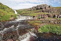 Wasserfall, Bach, Kaskade, Tundra, Skandinavien, Norwegen, Nord-Norwegen, Nordnorwegen, Lappland, Varanger, Waterfall, cascade, stream, tundra, Norway, Northern Norway, Lapland, Varanger