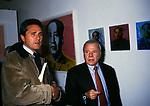 ACHILLE BONITO OLIVA, FRANCESCO RUTELLI E WILLER BORDON<br /> MOSTRA ANDY WARHOL ROMA 1997