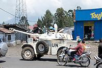 MONUC (UN Mission in DR Congo) patrol through Goma.
