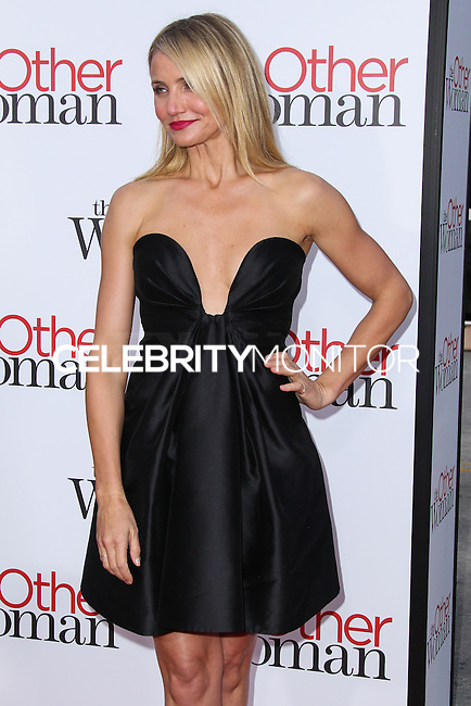 """WESTWOOD, LOS ANGELES, CA, USA - APRIL 21: Actress Cameron Diaz arrives at the Los Angeles Premiere Of Twentieth Century Fox's """"The Other Woman"""" held at the Regency Village Theatre on April 21, 2014 in Westwood, Los Angeles, California, United States. (Photo by Xavier Collin/Celebrity Monitor)"""
