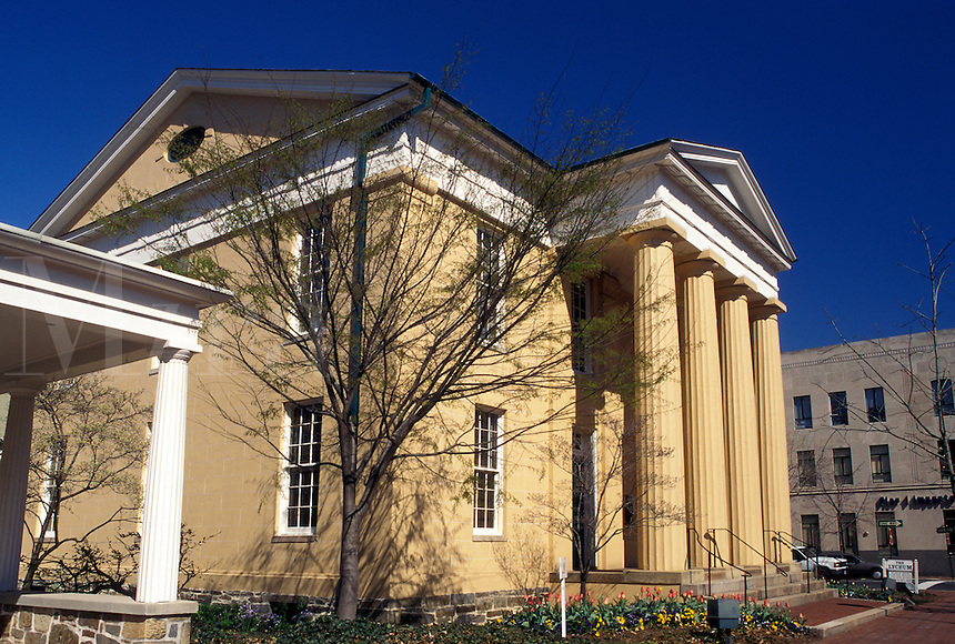 Alexandria, VA, Virginia, The Lyceum Museum a 1839 temple-form bulding in downtown Alexandria.
