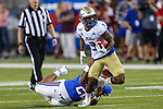 Tulsa Golden Hurricane running back Shamari Brooks (3) in action during the game between the Tulsa Golden Hurricanes and the SMU Mustangs at the Gerald J. Ford Stadium in Fort Worth, Texas.