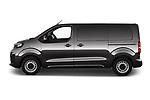 Car Driver side profile view of a 2020 Peugeot e-Expert FT-Premium 5 Door Cargo Van Side View