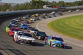 #18: Kyle Busch, Joe Gibbs Racing, Toyota Camry M&M's Fudge Brownie, #11: Denny Hamlin, Joe Gibbs Racing, Toyota Camry FedEx Ground
