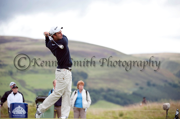 Pic Kenny Smith...... Tel 07809 450119.Johnnie Walker Championship, PGA Course Gleneagles, Day 2..Edoardo Molinari tees off at the 4th