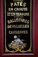 """Europe/France/Ile-de-France/Paris: """"BELLE-EPOQUE"""" - Charcuterie 4 rue Parrot<br /> PHOTO D'ARCHIVES // ARCHIVAL IMAGES<br /> FRANCE 1990"""