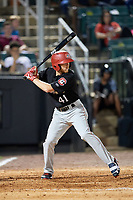 Chattanooga Lookouts center fielder Tanner English (41) at bat during a game against the Jackson Generals on April 29, 2017 at The Ballpark at Jackson in Jackson, Tennessee.  Jackson defeated Chattanooga 7-4.  (Mike Janes/Four Seam Images)
