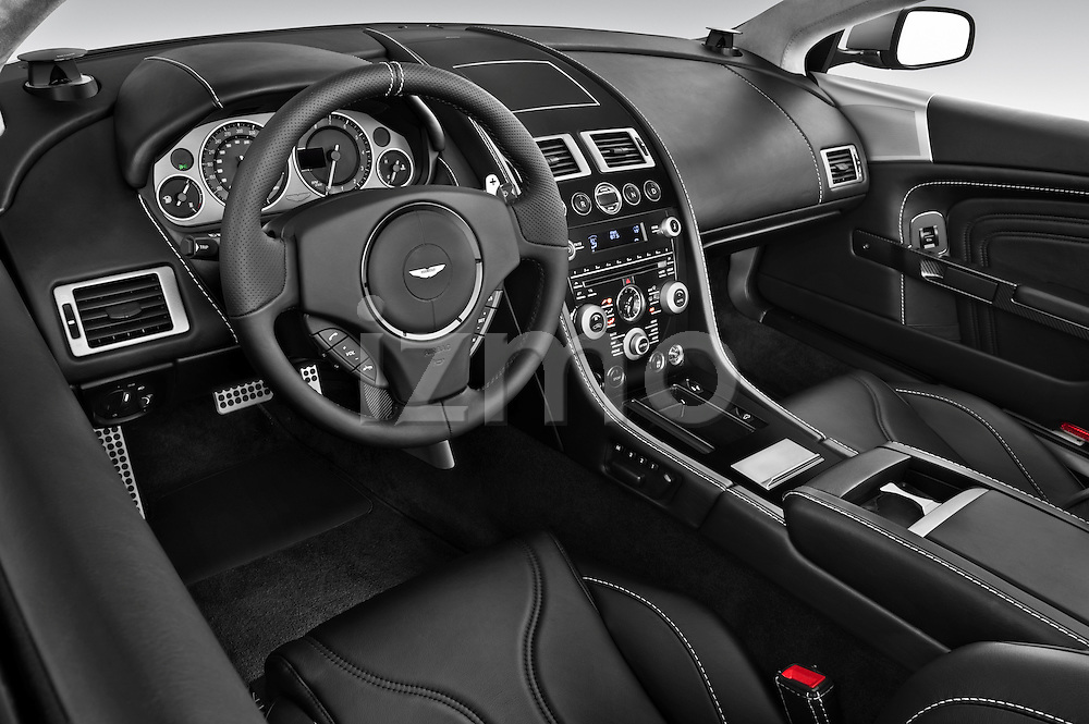 High angle dashboard view of a 2007 - 2012 Aston Martin DBS Volante Convertible.
